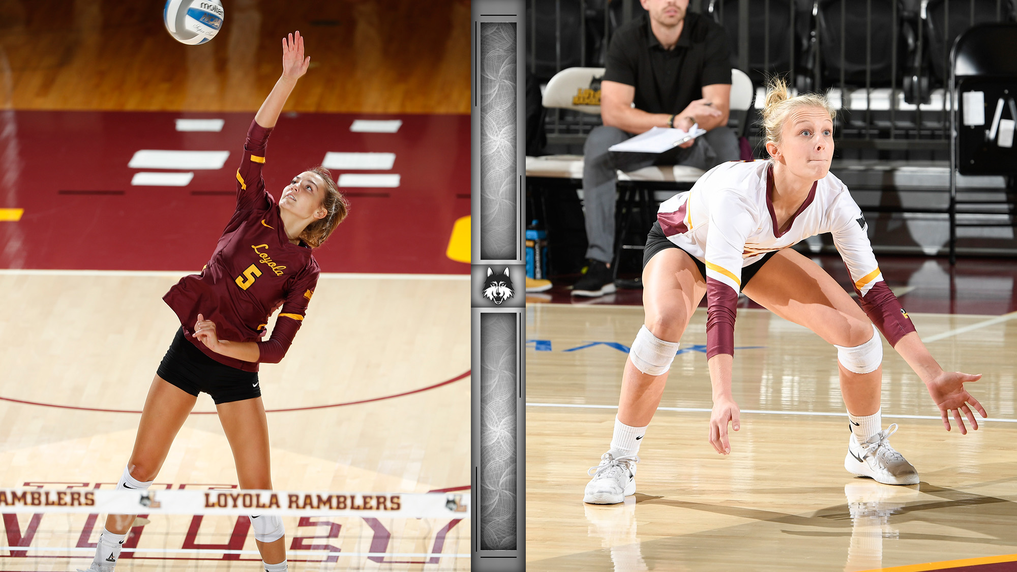 Barnes Moser Earn Mvc Volleyball Weekly Honors Loyola University Chicago Athletics